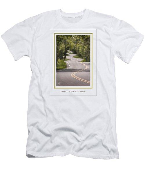 Winding Road Door County Men's T-Shirt (Slim Fit) by Barbara Smith
