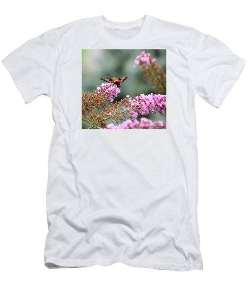 Men's T-Shirt (Slim Fit) featuring the photograph Wings In The Flowers by Kerri Farley