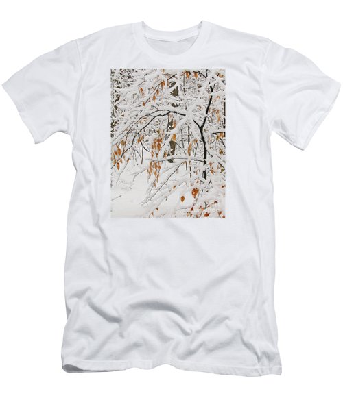Men's T-Shirt (Slim Fit) featuring the photograph Winter Branches by Ann Horn