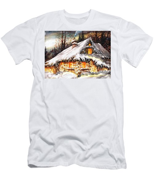 Winter Cottage Men's T-Shirt (Athletic Fit)