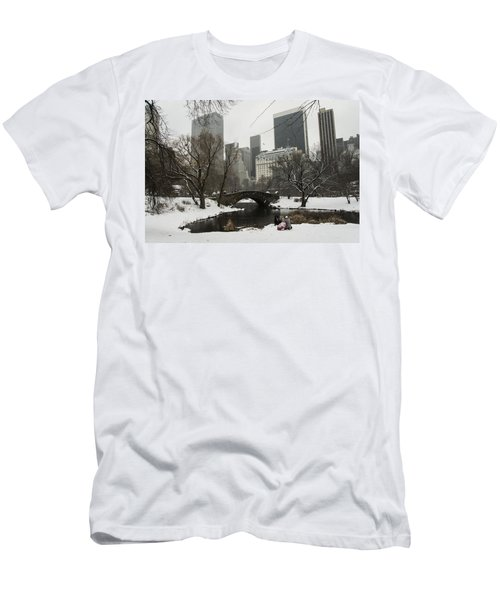 Winter In Central Park Men's T-Shirt (Athletic Fit)