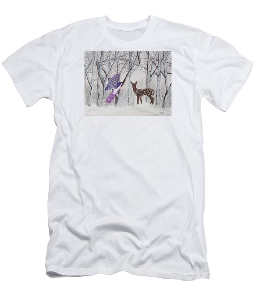 Winter Magic Men's T-Shirt (Slim Fit) by Cheryl Bailey