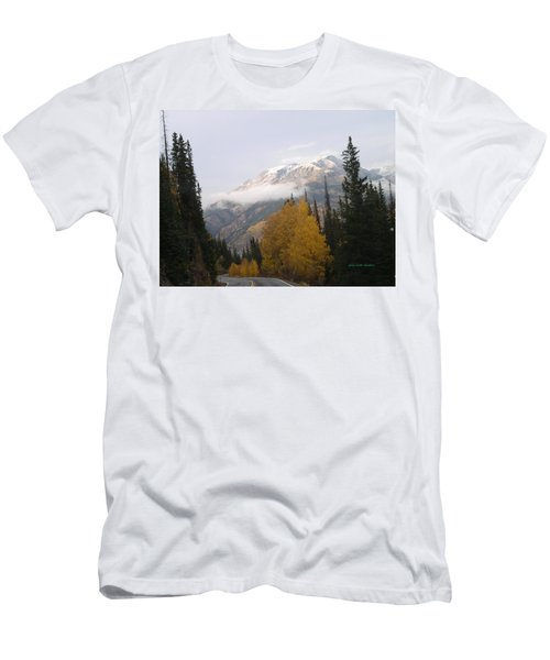Winter Over Red Mountain Men's T-Shirt (Athletic Fit)