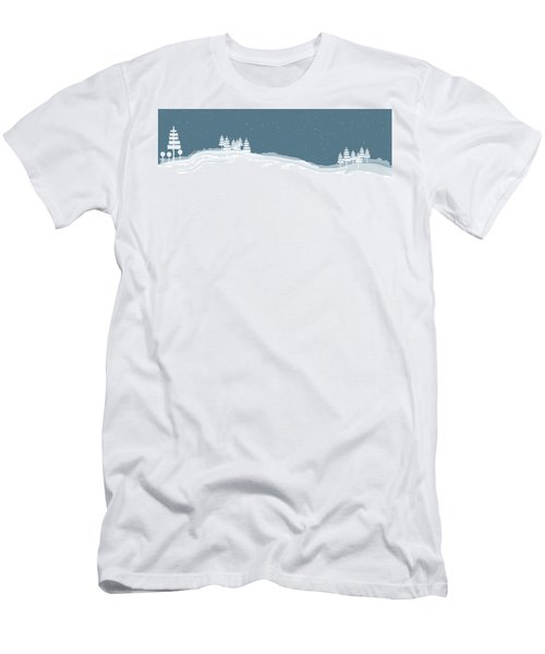 Winter Pines Men's T-Shirt (Athletic Fit)