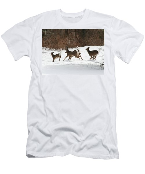 White Tailed Deer Winter Travel Men's T-Shirt (Athletic Fit)