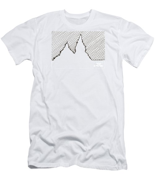 Winter Trees 2 - Aceo Men's T-Shirt (Slim Fit) by Joseph A Langley