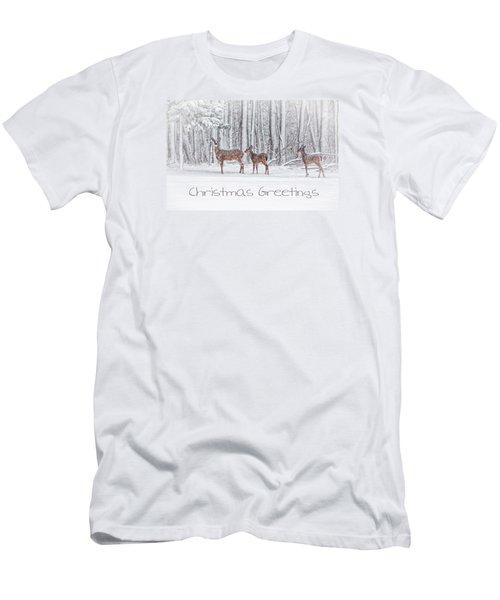 Winter Visits Card Men's T-Shirt (Slim Fit) by Karol Livote