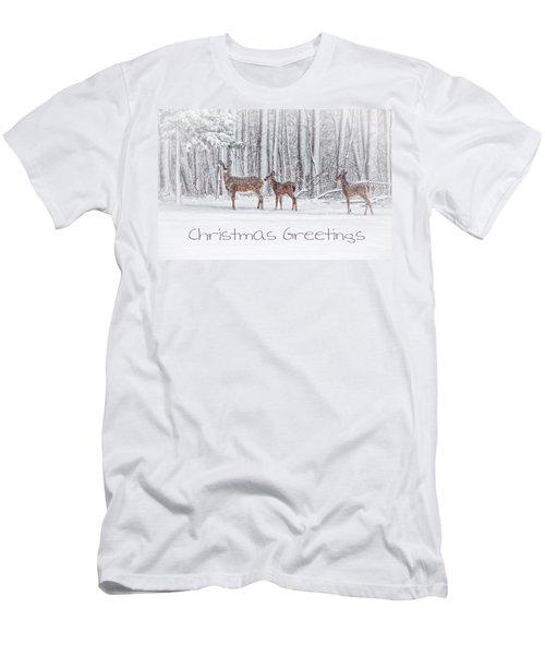 Winter Visits Card Men's T-Shirt (Athletic Fit)