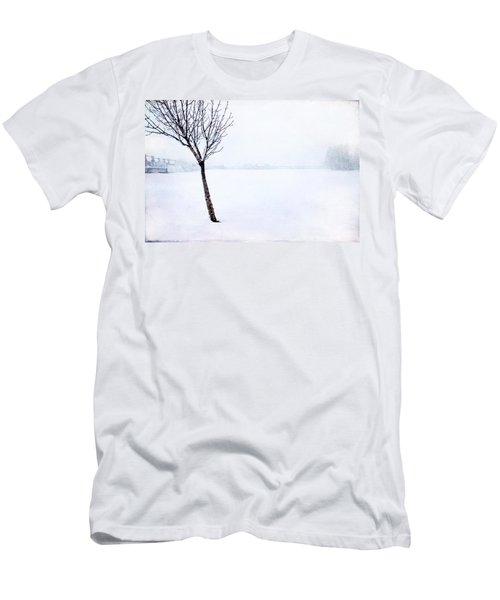 Winter Whiteout Men's T-Shirt (Athletic Fit)
