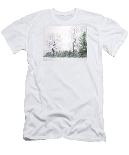 Winter Wonderland Usa Men's T-Shirt (Athletic Fit)
