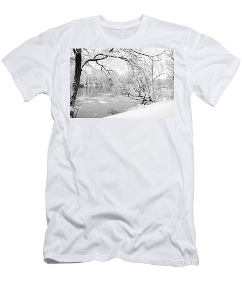 Winter Wonderland In Black And White Men's T-Shirt (Athletic Fit)