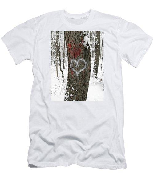 Winter Woods Romance Men's T-Shirt (Athletic Fit)