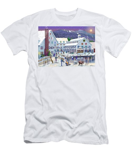 Wintertime At Waterville Valley New Hampshire Men's T-Shirt (Slim Fit) by Nancy Griswold