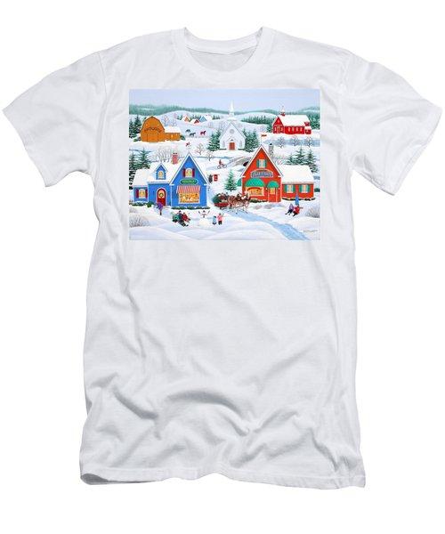 Wintertime In Sugarcreek Men's T-Shirt (Athletic Fit)