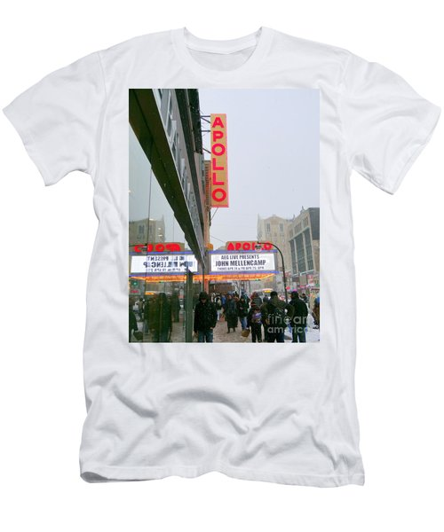 Wintry Day At The Apollo Men's T-Shirt (Slim Fit) by Ed Weidman