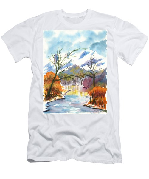 Wintry Reflections Men's T-Shirt (Athletic Fit)