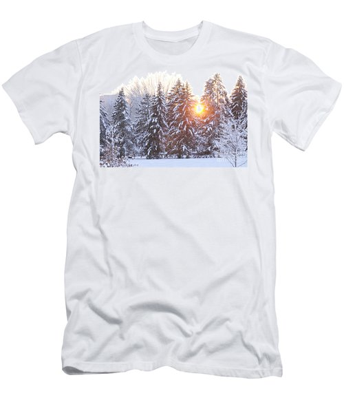 Wintry Sunset Men's T-Shirt (Slim Fit) by Larry Ricker