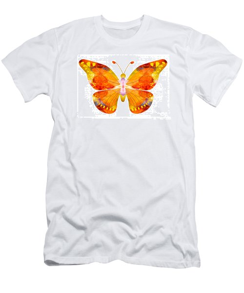 Wisdom And Flight Abstract Butterfly Art By Omaste Witkowski Men's T-Shirt (Athletic Fit)