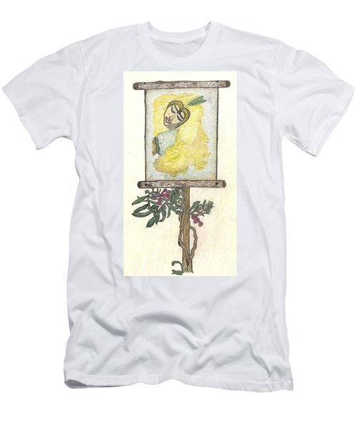 Men's T-Shirt (Slim Fit) featuring the drawing Wish And Tell by Kim Pate