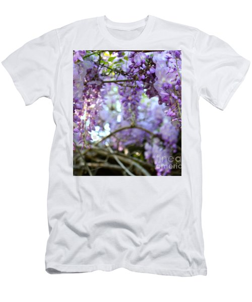 Men's T-Shirt (Slim Fit) featuring the photograph Wisteria Dream by Cathy Dee Janes