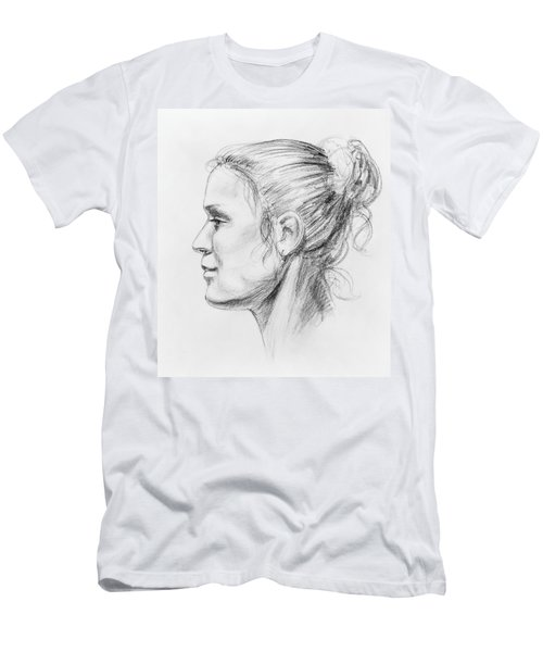 Woman Head Study Men's T-Shirt (Athletic Fit)