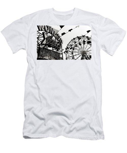 Wonder Wheel Men's T-Shirt (Slim Fit) by Madeline Ellis