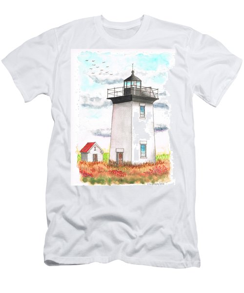 Wood End Lighthouse - Massachusetts Men's T-Shirt (Athletic Fit)