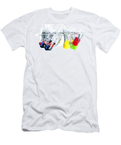 Wooden Toys In Water Men's T-Shirt (Slim Fit) by Mike Santis