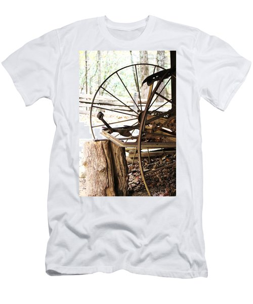 Men's T-Shirt (Slim Fit) featuring the photograph Woody And Wheely by Faith Williams