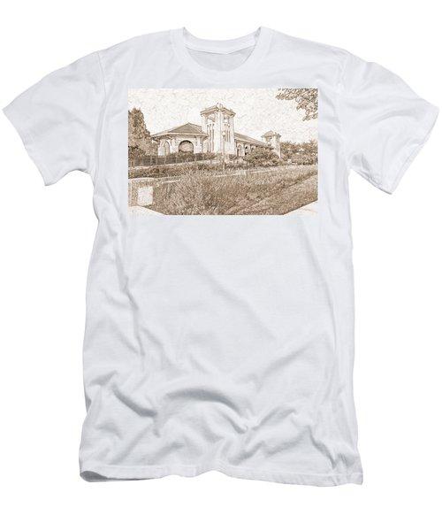 World's Fair Pavilion At Forest Park St Louis Men's T-Shirt (Slim Fit) by Greg Kluempers