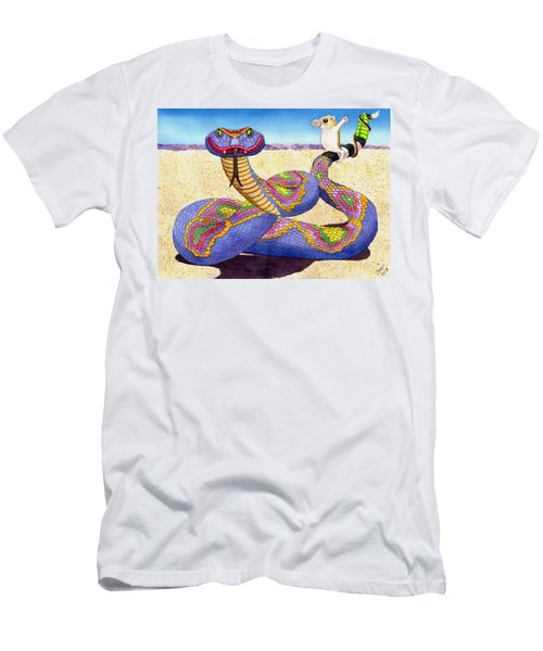 Wrangled Razzle Dazzle Rainbow Rattler Men's T-Shirt (Athletic Fit)