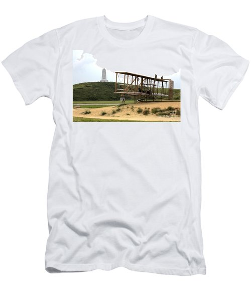 Wright Brothers Memorial At Kitty Hawk Men's T-Shirt (Athletic Fit)