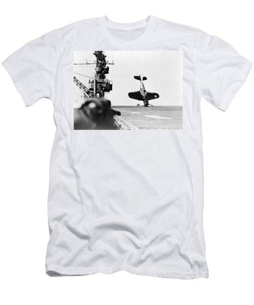 Wwii Crash Landing, 1943 Men's T-Shirt (Athletic Fit)