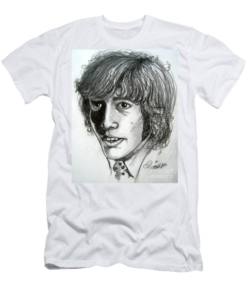 Men's T-Shirt (Slim Fit) featuring the drawing Robin Gibb by Patrice Torrillo