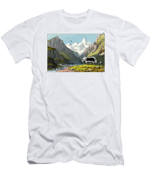 Yak Men's T-Shirt (Slim Fit) by Splendid Art Prints
