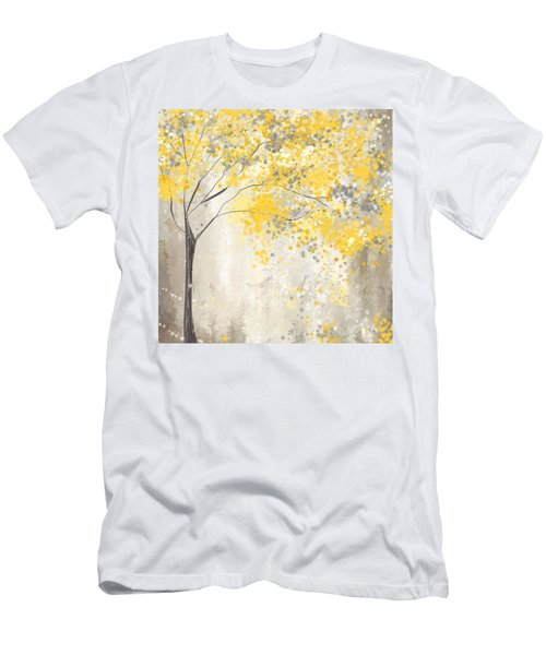 Yellow And Gray Tree Men's T-Shirt (Athletic Fit)