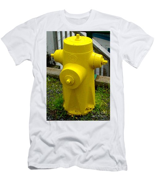 Yellow Hydrant Men's T-Shirt (Athletic Fit)