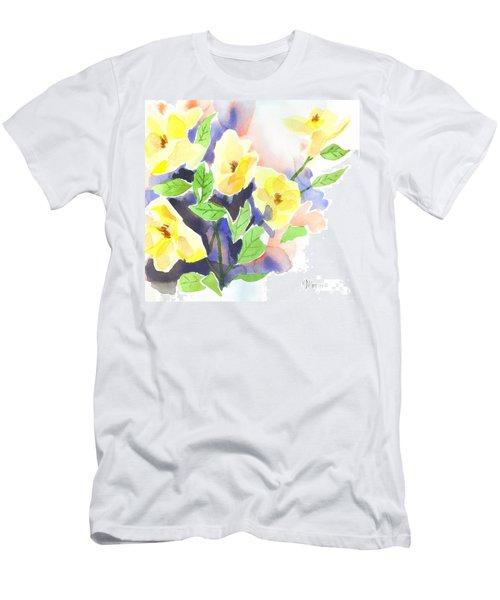 Yellow Magnolias Men's T-Shirt (Slim Fit) by Kip DeVore
