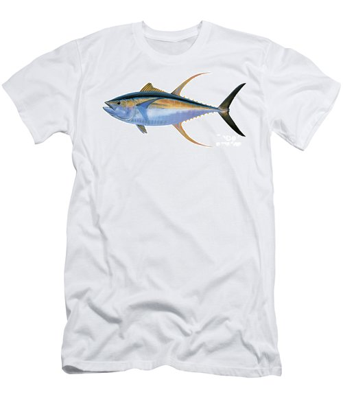 Yellowfin Tuna Men's T-Shirt (Slim Fit) by Carey Chen