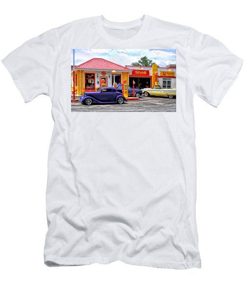 Yesterday's Shell Station Men's T-Shirt (Athletic Fit)
