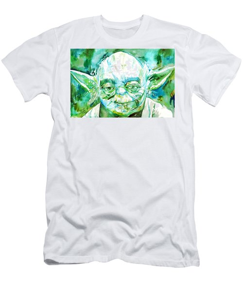 Yoda Watercolor Portrait Men's T-Shirt (Athletic Fit)