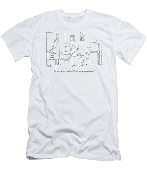 Yoo-hoo. Time To Climb The Stairway To Paradise Men's T-Shirt (Athletic Fit)