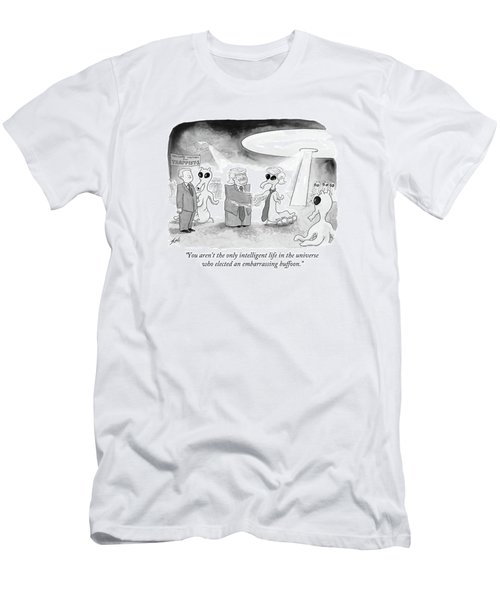 You Aren't The Only Intelligent Life Men's T-Shirt (Athletic Fit)