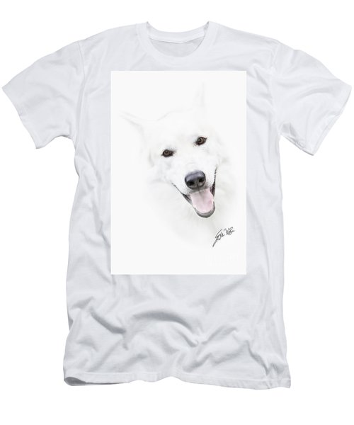 Men's T-Shirt (Slim Fit) featuring the digital art Young Wolf by Erika Weber