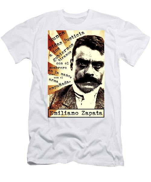 Men's T-Shirt (Athletic Fit) featuring the mixed media Zapatismo by Michelle Dallocchio
