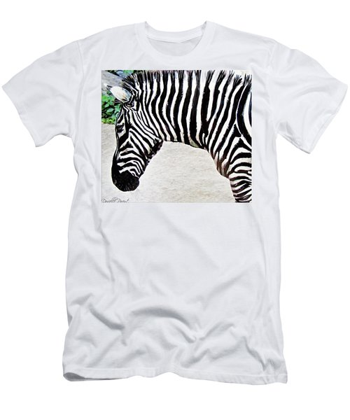 Zebra Alcohol Inks  Men's T-Shirt (Athletic Fit)