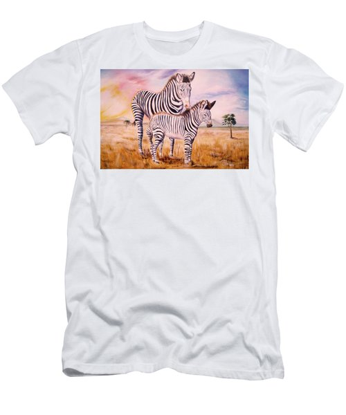 Zebra And Foal Men's T-Shirt (Athletic Fit)