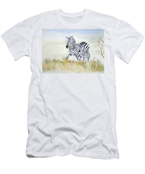 Zebra Family Men's T-Shirt (Athletic Fit)