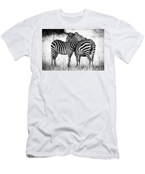 Zebra Love Men's T-Shirt (Slim Fit) by Adam Romanowicz