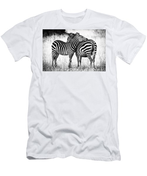 Zebra Love Men's T-Shirt (Athletic Fit)